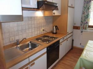 Küchenzeile der Gästeküche